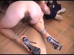 Very hairy anal sex